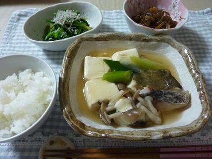 鱈と豆腐の和風あんかけ