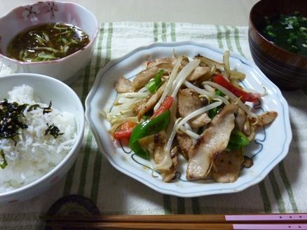 豚トロの野菜炒め