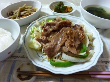 牛カルビ野菜炒め