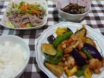 鶏と彩り野菜のケチャップ炒め