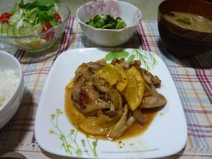 鶏肉のオレンジ煮