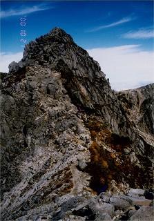 3 宝剣岳(南稜から)