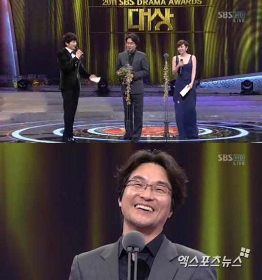 20111231sbs演技大賞 大賞ハン・ソッキュ