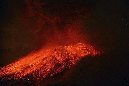 メキシコ火山噴火