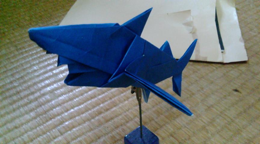 ... 普通の折り紙。大きさ忘れた : 折り紙 猫 折り方 : すべての折り紙