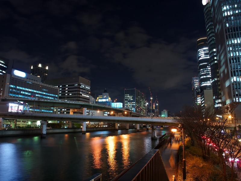 中之島 阪神高速 夜景