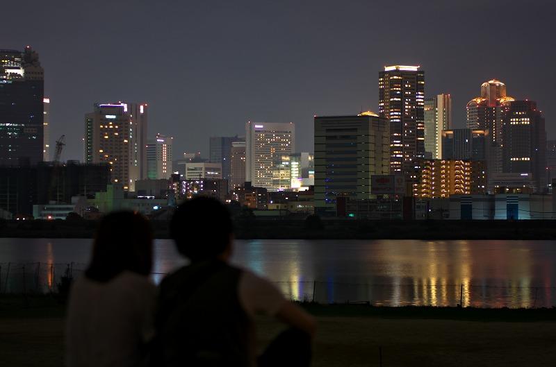 淀川河川敷 夜景