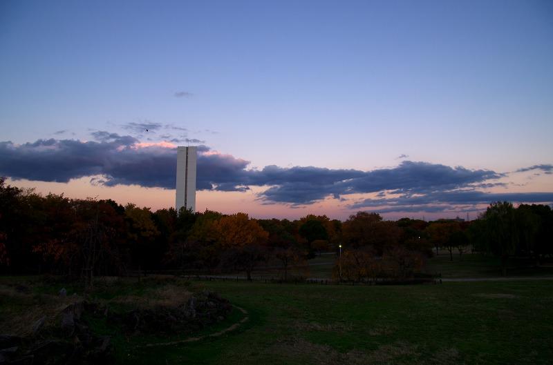 大仙公園 夕焼け空