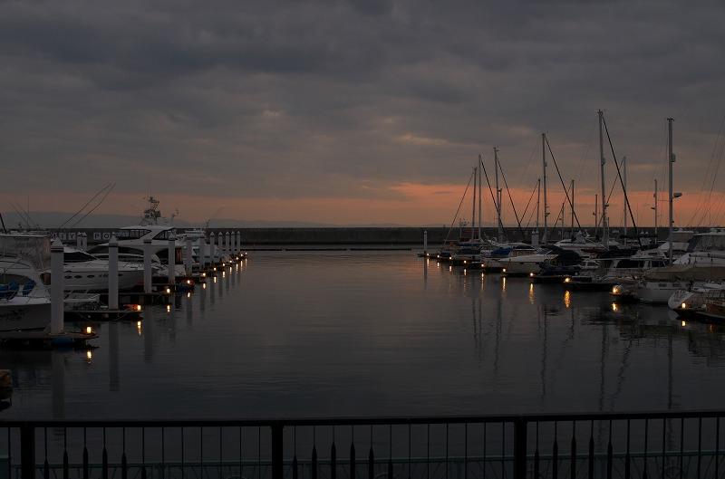 新西宮ヨットハーバーの夕焼け