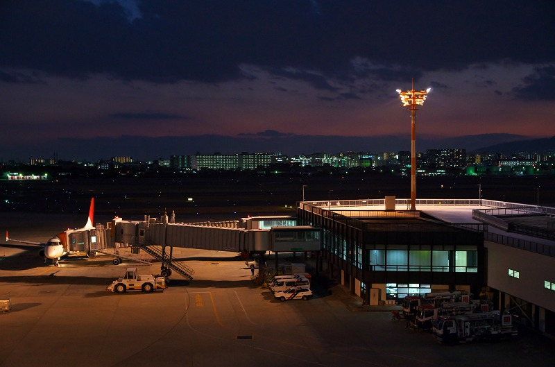 大阪国際空港 伊丹空港 夕焼け 夕景