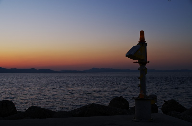 岬町 多奈川小島 漁港 夕焼け