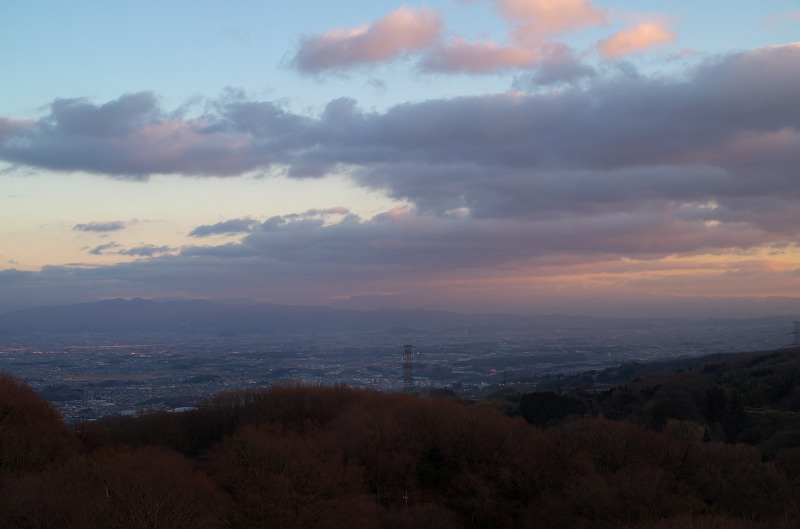 信貴生駒スカイライン 鐘の鳴る展望台 景色 夕焼け