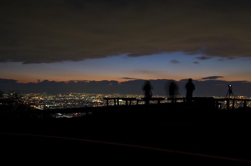 信貴生駒スカイライン 十三峠駐車場 夕景・夜景