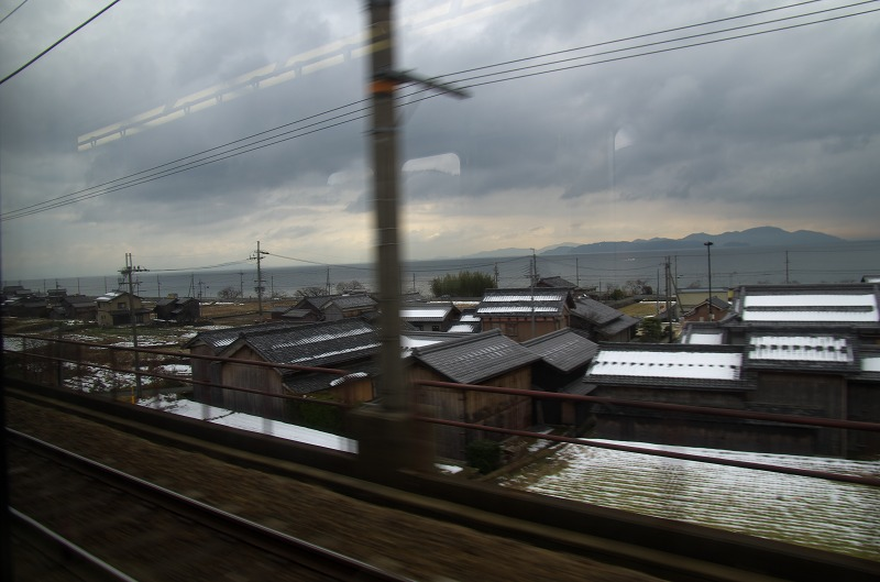 滋賀県 湖西線 車窓