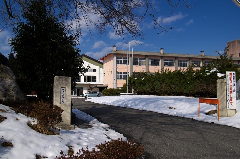 高島市率小学校 マキノ西小 雪