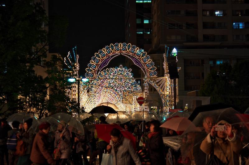 神戸ルミナリエ 2013 雨