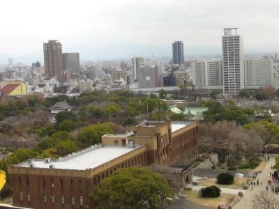 天守閣から大阪市内を望む(南)