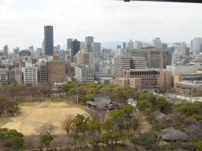 天守閣から大阪市内を望む(西)