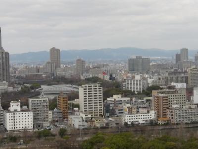 天守閣から大阪市内を望む(北)