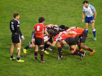 日本(赤)vsニュージーランド