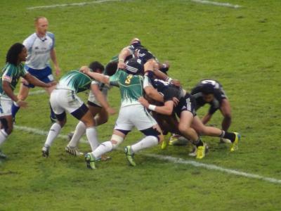 カップ決勝戦 南アフリカ(緑)vsニュージーランド