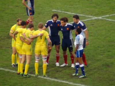3位決定戦 オーストラリア(黄)vsフランス