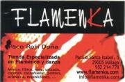 tarjeta de FLAMENKA