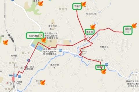鎌倉散策マップ