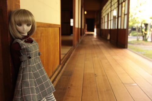 和館廊下にて2