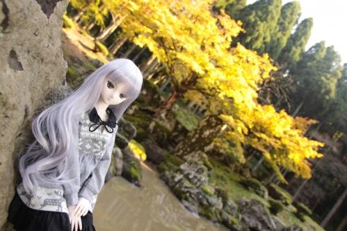 日本庭園にて2