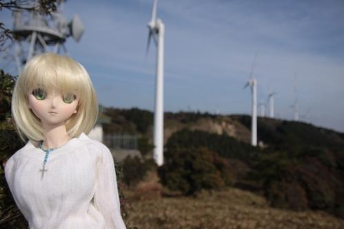 風車と一緒に4