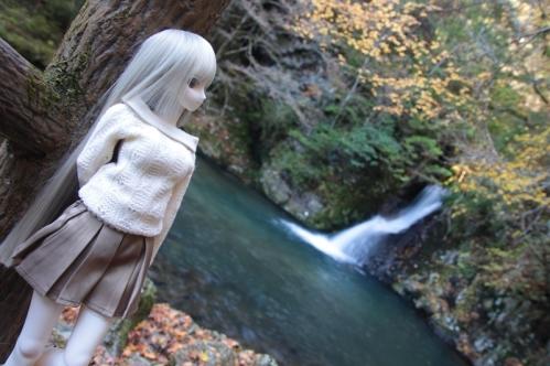 紅葉滝にて2