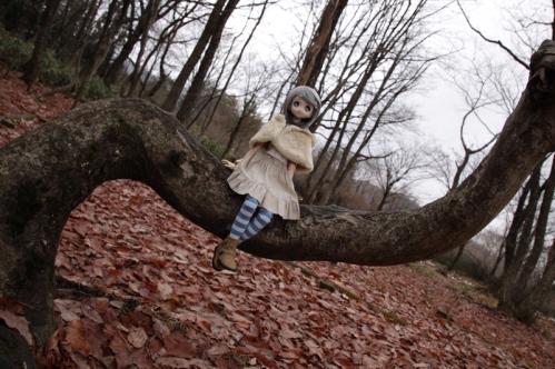 木に腰かけて2