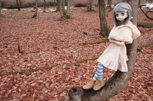 木にもたれたり立ったり2