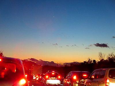 岡山・広島県境付近の事故渋滞