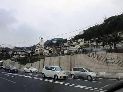 にわか雨の降る長崎市内