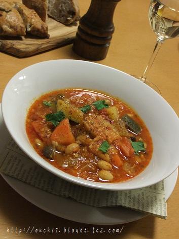 豚肉と大豆のトマト煮1