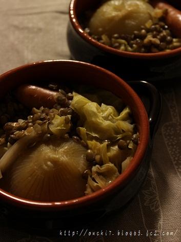 レンズ豆と新玉ねぎの丸ごと煮1