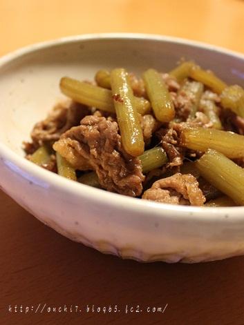 牛肉とふきの炒め煮