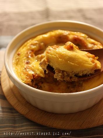 皿焼きチーズオムレツ