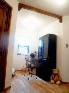 2Fホール+黒食器棚