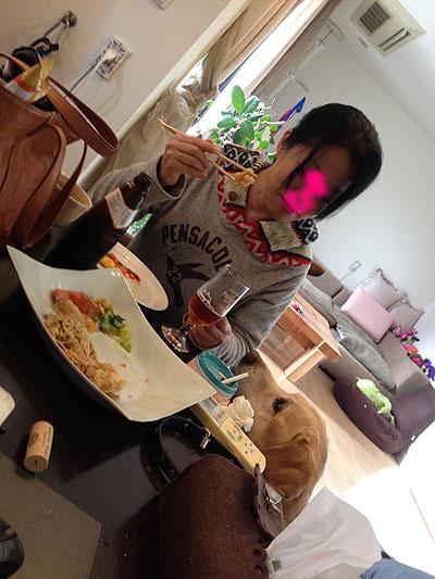 朝からホルモン天ぷら。