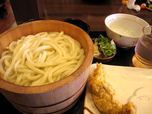 かま揚げうどん(丸亀製麺)