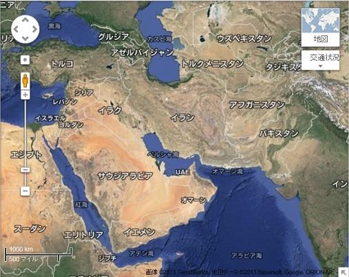 地図 現在の中東