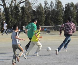 サッカーは楽しいよ