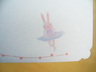 バレエうさぎメッセージカード