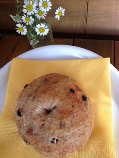 ブルーベリー灰がパン