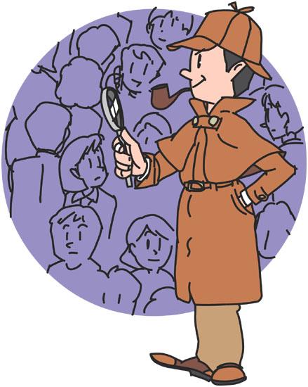 尾行する探偵