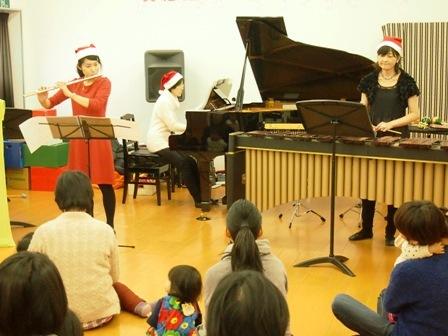 2013.12.25 マリンバ&フルート&ピアノ