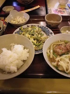 ゴーヤチャンプルー定食